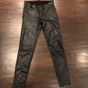 Black leather (faux) pants